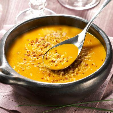 Soupe de potimarron au Quinoa Gourmand