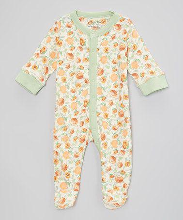 Natural wondies white peach organic bodysuit infant