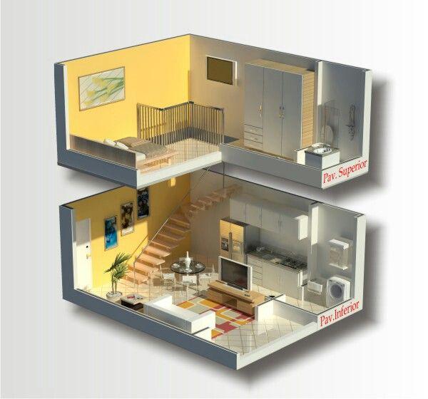 Mejores 160 im genes de loft en pinterest espacios - Loft pequeno ...