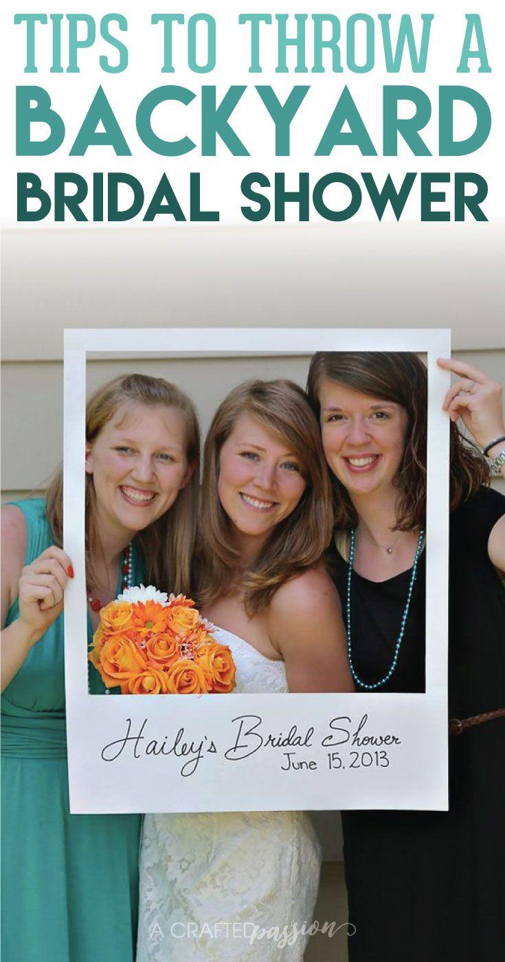 Host a Backyard Bridal Shower Diy PolaroidPolaroid
