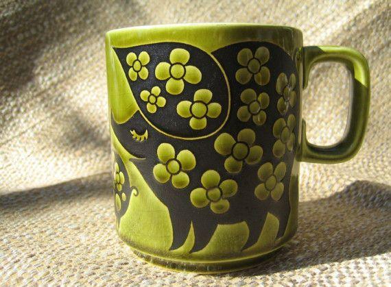 Vintage Hornsea pig mug. Clappison design, 1974