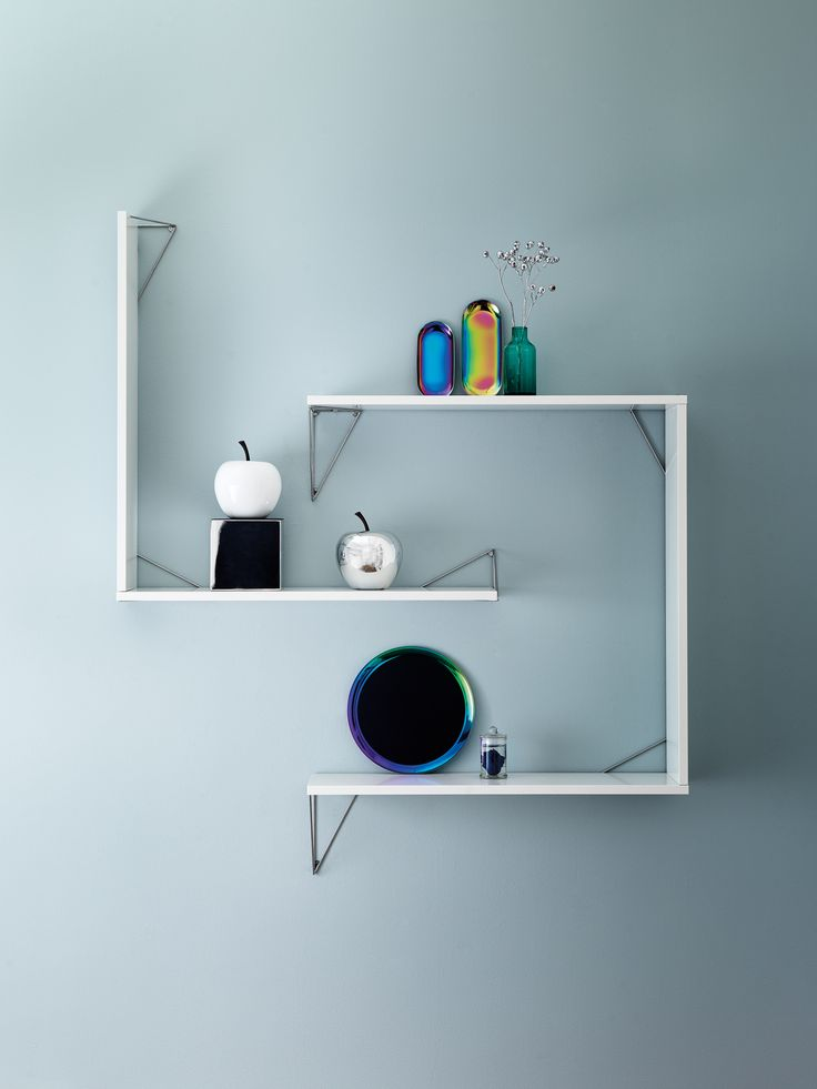 Pythagoras bracket system Chrome and white #slowproduction #interiordesign #interior #elle #bracketsystem #madeinsweden