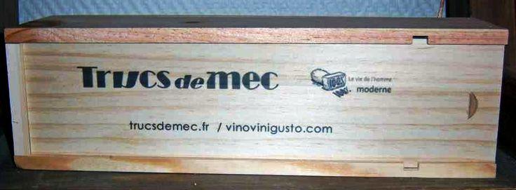 Personnalisation en impression numérique couleur sur coffrets bois par www.mabouteille.fr