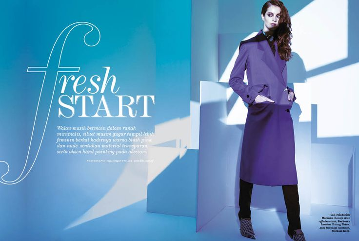 """Fresh Start"" - September 2014 #ELLE #ELLEIndonesia #fashion #magazine #editorial"
