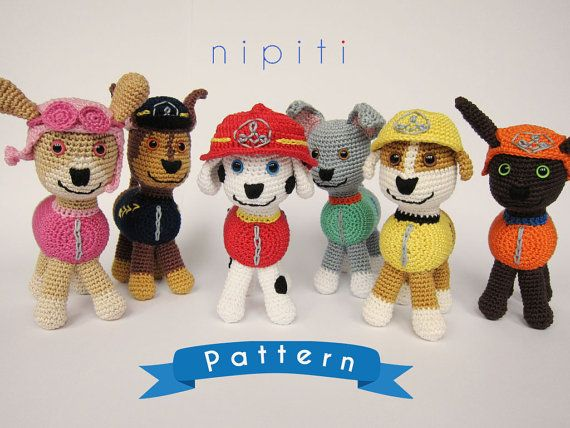 Knitting Pattern Paw Patrol : 23 best images about Crochet - paw patrol on Pinterest
