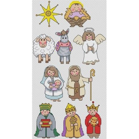 Cross Stitch Nativity Free Patterns Pesquisa Google