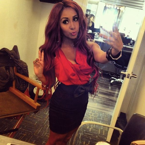 Snooki Nicole Polizzi at the Today Show