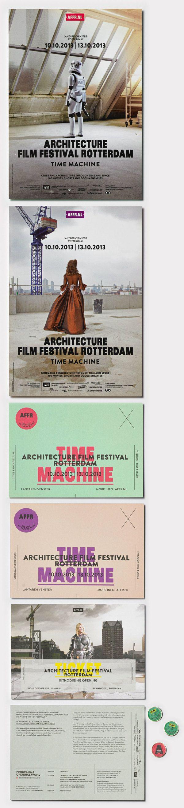 ARCHITECTURE FILM FESTIVAL ROTTERDAM by Studio Beige, via Behance