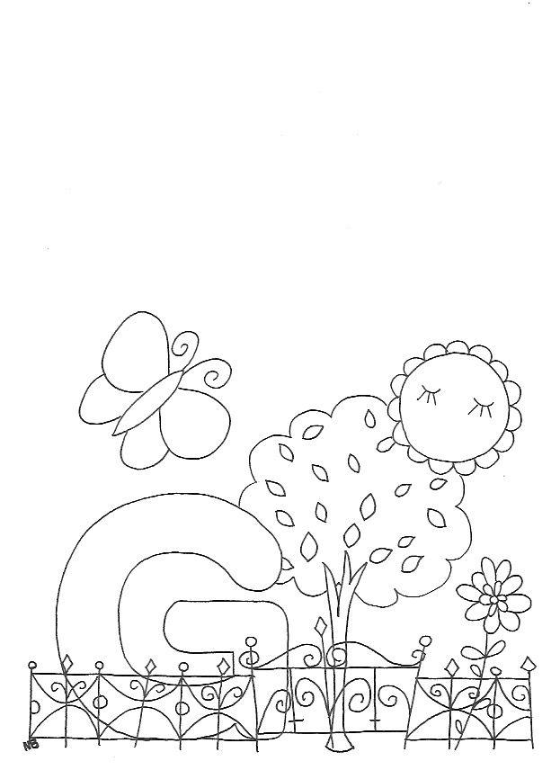 Ausmalbild G wie... Garten | Ausmalbilder gratis, Ausmalbilder und ...
