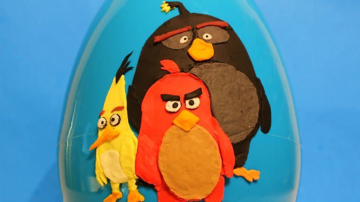 Toys for Kids   BIG Angry Birds Play Doh Surprise Egg - Bomb, Red, Chuck video: https://youtu.be/nFY0a3o_IoI