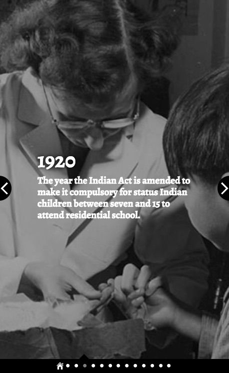 (4 of 10) Residential Schools by the Numbers 1920: The year the Indian Act is amended to make it compulsory for status Indian children between seven and 15 to attend residential school. Source: The Canadian Press