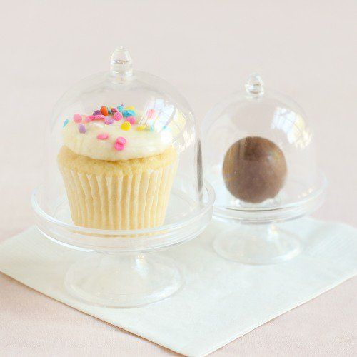 Display this adorable mini acrylic cake stand with lid at your upcoming baby shower for a look guests will notice.