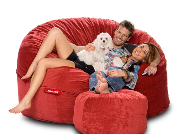 The Gigantor beanbag is perfect to relax with your family after a hard days work. Check it out in 2 fabrics and 8 colors from $419 at www.sumolounge.com don't forget all of our bean bags come with free shipping!