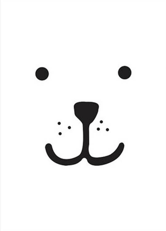 Deze schattige poster met beer van de Zweedse ontwerpster Tellkiddo is ideaal om de kinderkamer mee op te vrolijken.