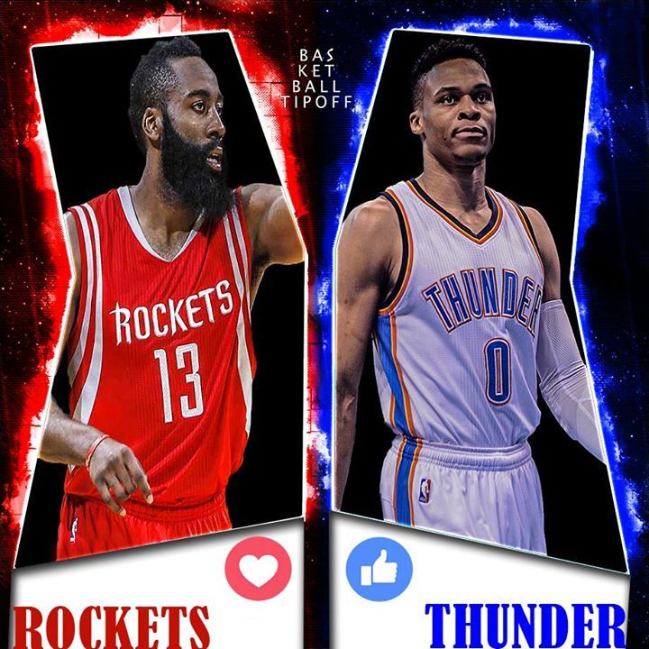 Tonight Russell Westbrook is going against his good friend and former teammate James Harden . Who do you got in Game 1 Oklahoma City Thunder or Houston Rockets ?    -slipLine