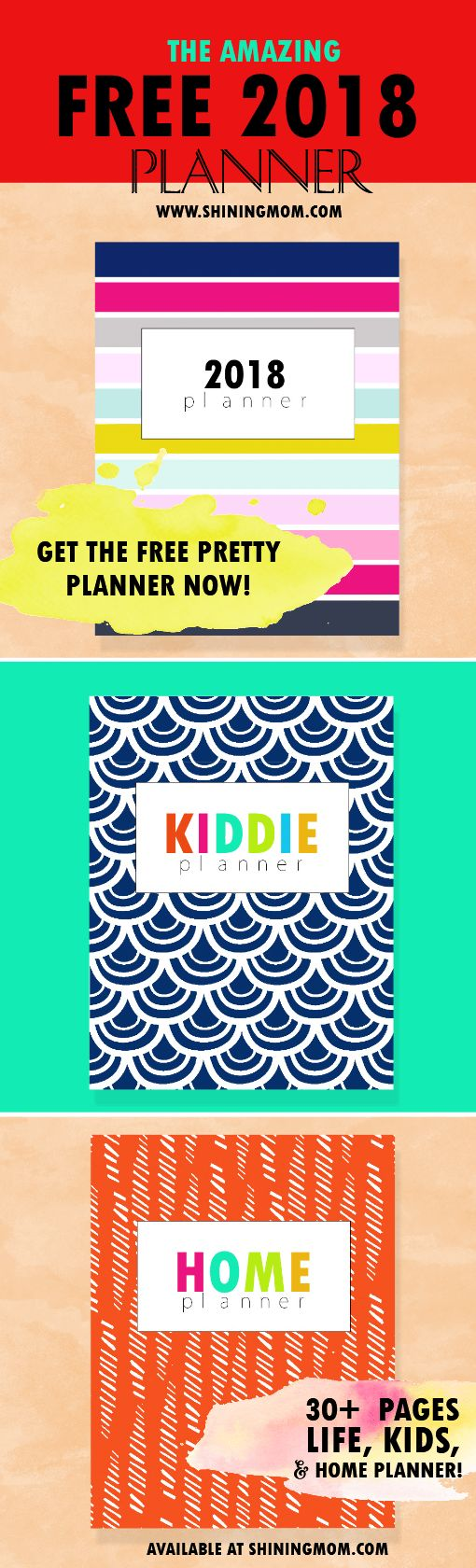 Grab this 2018 planner free printable to design your life! Have a great new year ahead! #2018planner #planner2018printable #planner2018 #freeplanner2018