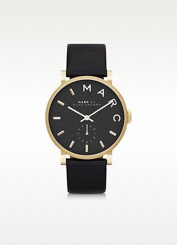 Marc by Marc Jacobs Baker Round Enamel Case Stainless Steel Women's Watch