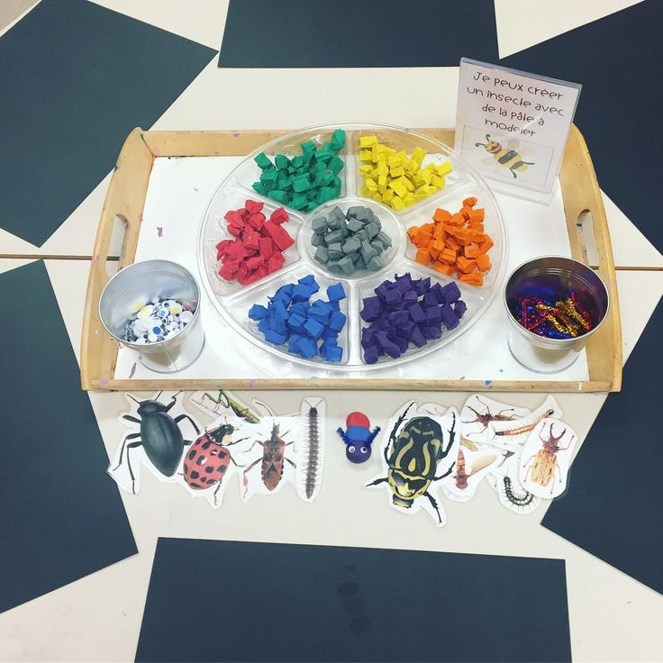 """45 Likes, 1 Comments - Laura King (@kindergartenteachertired) on Instagram: """"We are making insects out of clay at the art centre this week! 🐛🦋🐌🦌🐜🐌🕷 We set out pre-cut small…"""""""