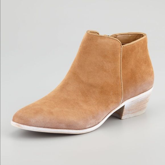 Sam Edleman Suede booties with leather insole Worn maybe 7 times, in GREAT condition. Love them so much just never wear them. Sam Edelman Shoes Ankle Boots & Booties