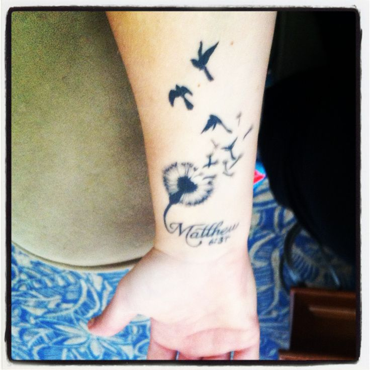 """Color Tattoo By Matt From Black Sails Tattoo: My Forearm Tattoo... Matthew 6:34 """"So Don't Worry About"""