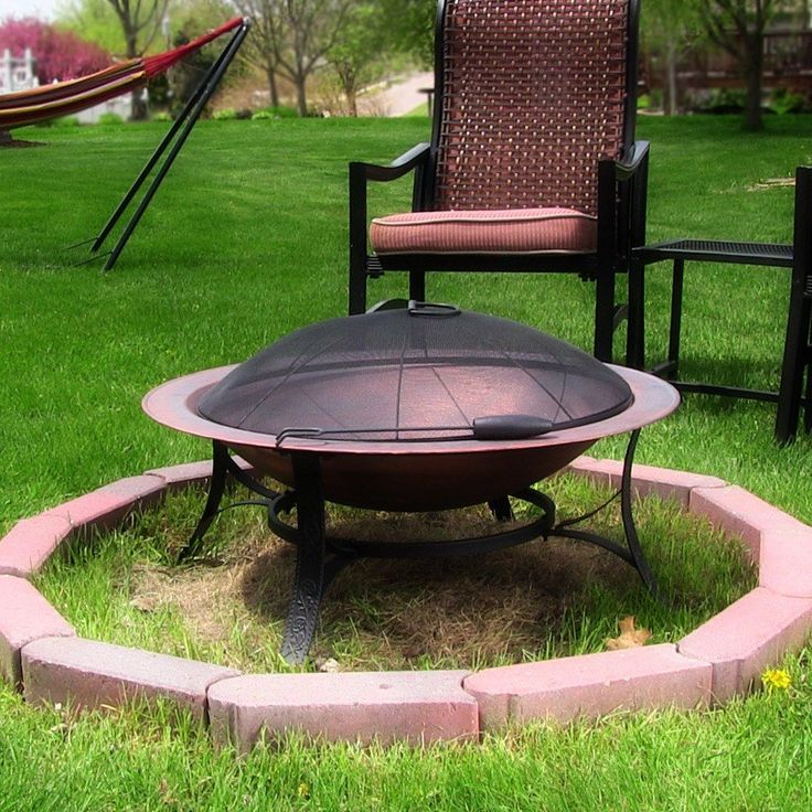 Cast Iron Bowl Fire Pit with Copper Finish