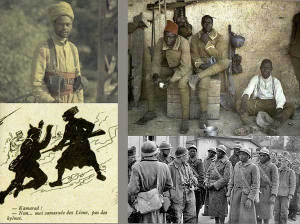Africans fighting for France from the Black Presence website