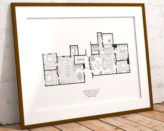 Image 0 Floor Plans How To Plan Friends Tv Show