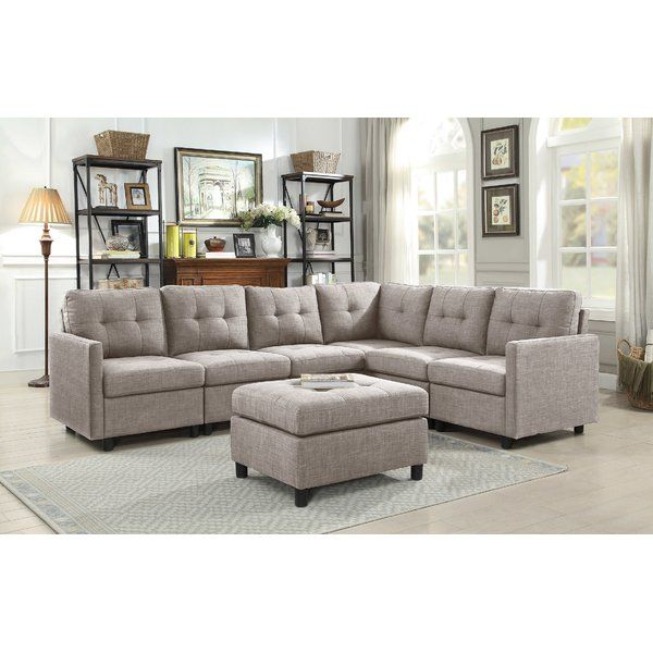 Sol Right Hand Facing Modular Sectional With Ottoman Modular Sectional Sofa Sectional Sofa Modular Sectional