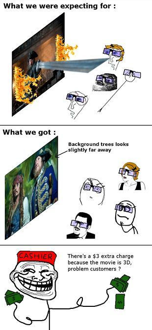 Rage Comics - 3D movies - MEME, Funny Pictures and LOL