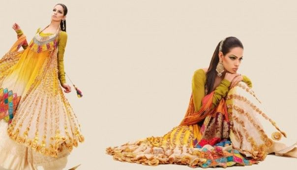 Pakistani Wedding New Mehndi Dress collection 2013-14 Check out more desings at: http://www.mehndiequalshenna.com/