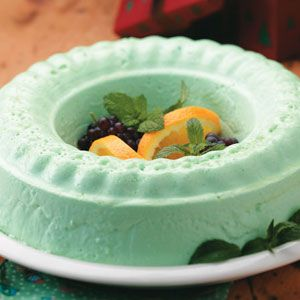Simple Lime Jello Salad  -  made for EASTER!   whipped in softened vanilla ice cream - it was smooth and heavenly!