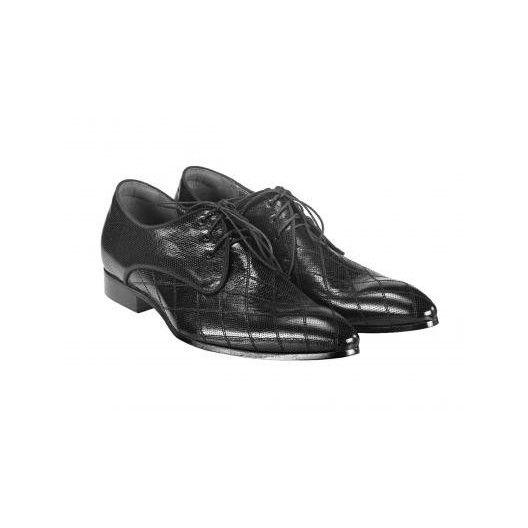Pánske kožené spoločenské topánky čierne PT159 - manozo.hu