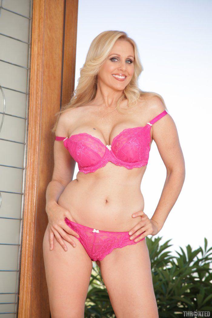 Panties bra and girl blonde pink in