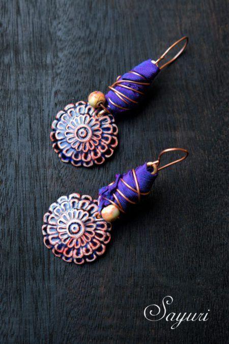Art Nouveau earrings spring earrings