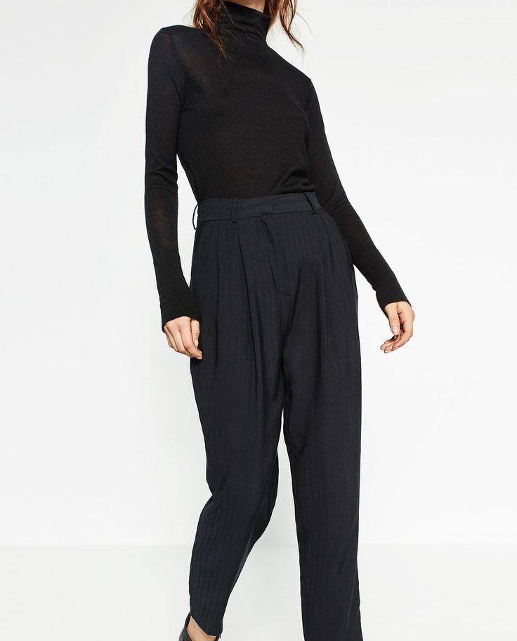 HIGH WAISTED CARROT TROUSERS-View all-TROUSERS-WOMAN   ZARA United States