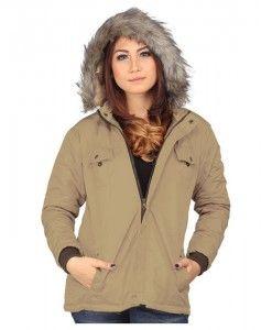 jaket wanita murah berbahan parasut warna cream | tokofobia.com toko fashion online murah dan berkualitas