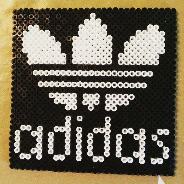 Adidas logo perler beads by zhikorina