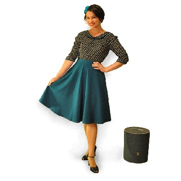 Teal swing skirt available at #hardtofind