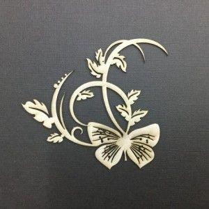 butterfly flourish
