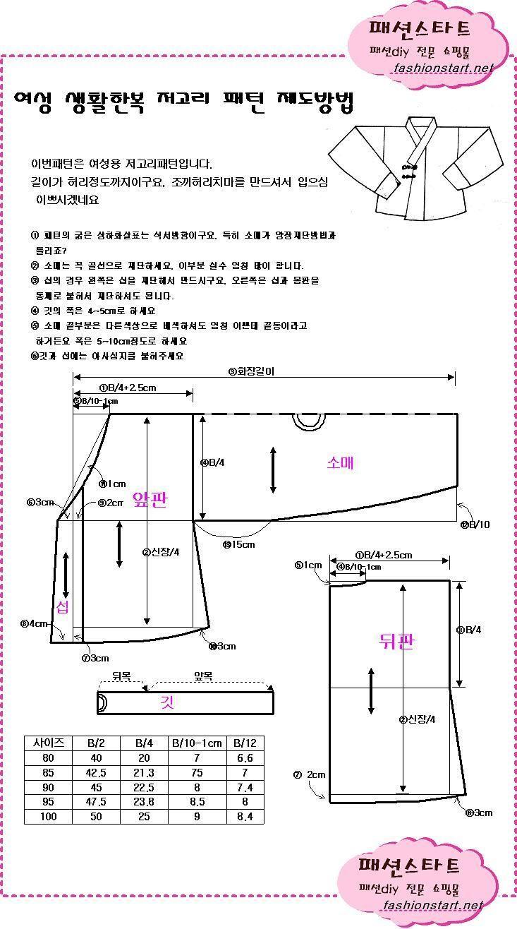 kore modası,korean fashion,modern hanbok,hanbok kalıpları,burda dergisi kalıpları
