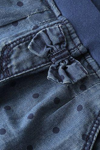Esprit / Jeans mit Tupfen, Schleife und Rippbund