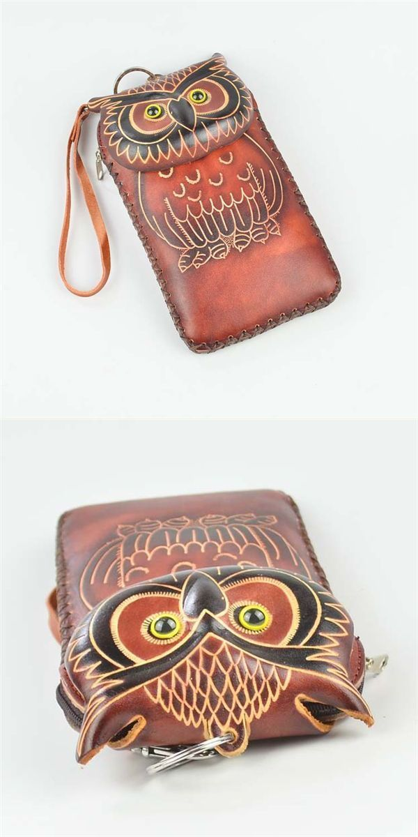 Wallets Macy 8217 S Genuine Leather Cartoon Owl 5 5inch Phone Bag Clutch Coins