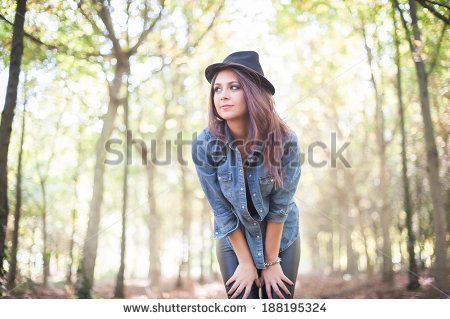 A beautiful stylish young woman, on Shutterstock, by Annalisa Bombarda