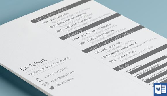 230 best Resume Download images on Pinterest Cv resume template - Simple Format For Resume