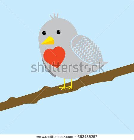 Vector illustration of love bird - stock vector
