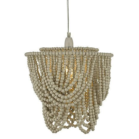 Home Collection Wood Zeena Beaded Ceiling Light Shade