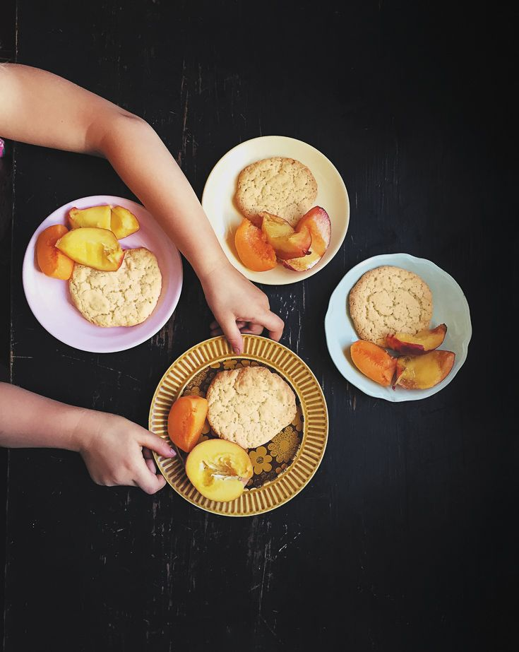 Butter biscuits + peaches featured on https://www.instagram.com/hellolunchlady/ Lunch Lady Magazine available at http://shop.hellolunchlady.com.au/
