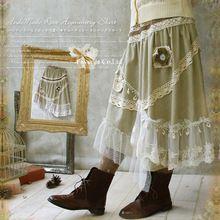 Forest japonské dievčatá módny štýl Mori Girl Goes Tutu Dospelí Liz Lisa De Saia Hives Lace Lolita sukne Hollow Wall X039 (Čína (pevninská časť))