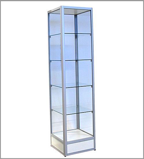 Glassmonter for gulv : Kvadratisk utstillingsmonter