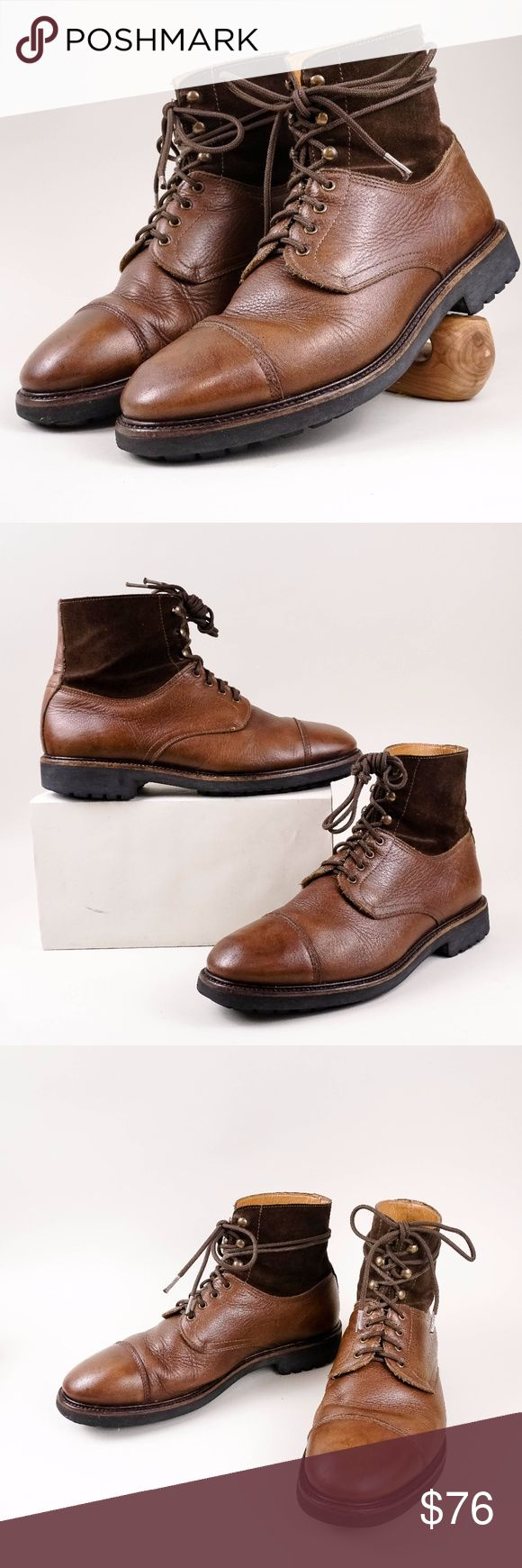 Hudson Cap toe Leather Suede rugged boots This item is gently used in excellent condition, Minor signs of wear. Please view all the pictures for condition details.  * Size: 42/ 8.5 * Color: brown H By Hudson Shoes Boots